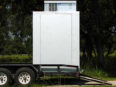 trailer mounted walk in cooler
